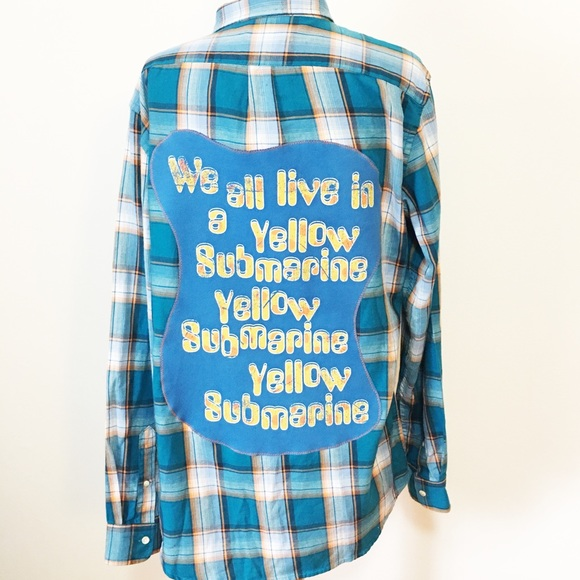 d3cc6e42 Shirts | Upcycled Beatles Flannel Size Mens Large | Poshmark